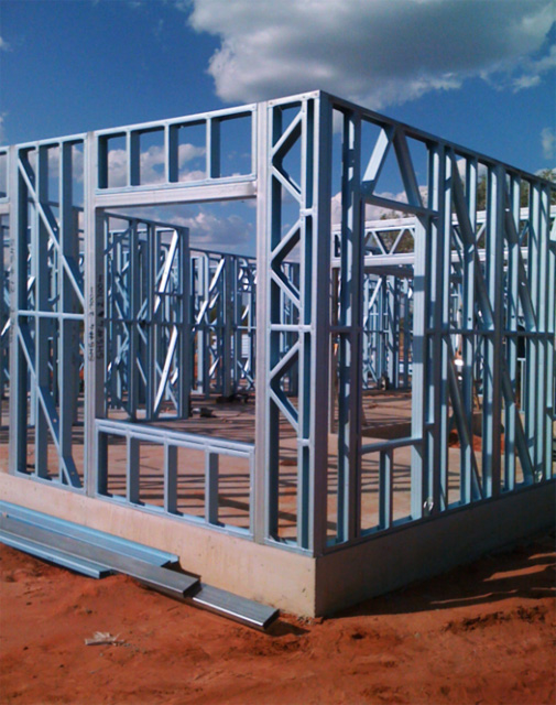 steel frame walls - Metal Wall Framing
